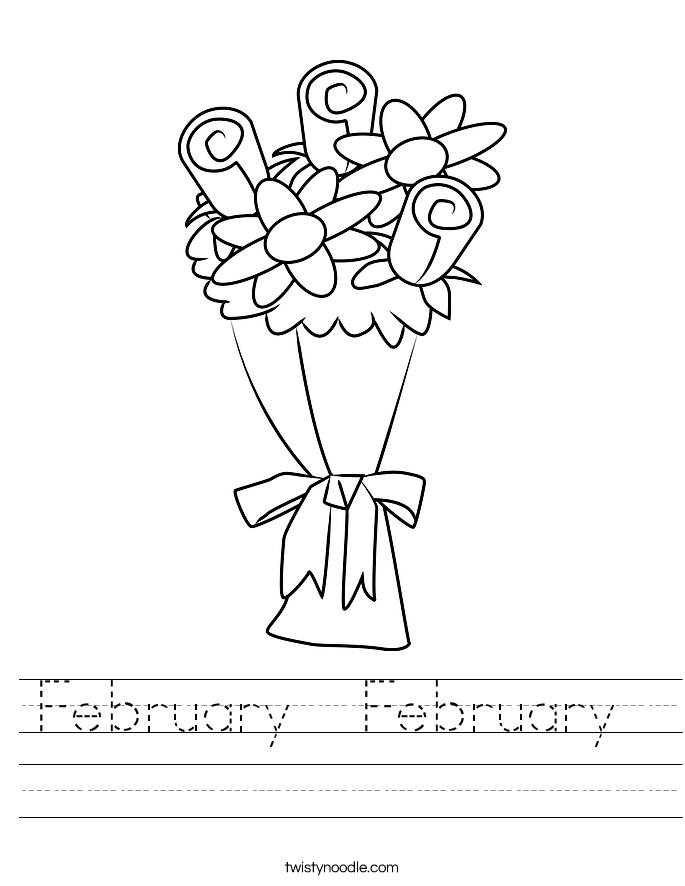 February  February  Worksheet