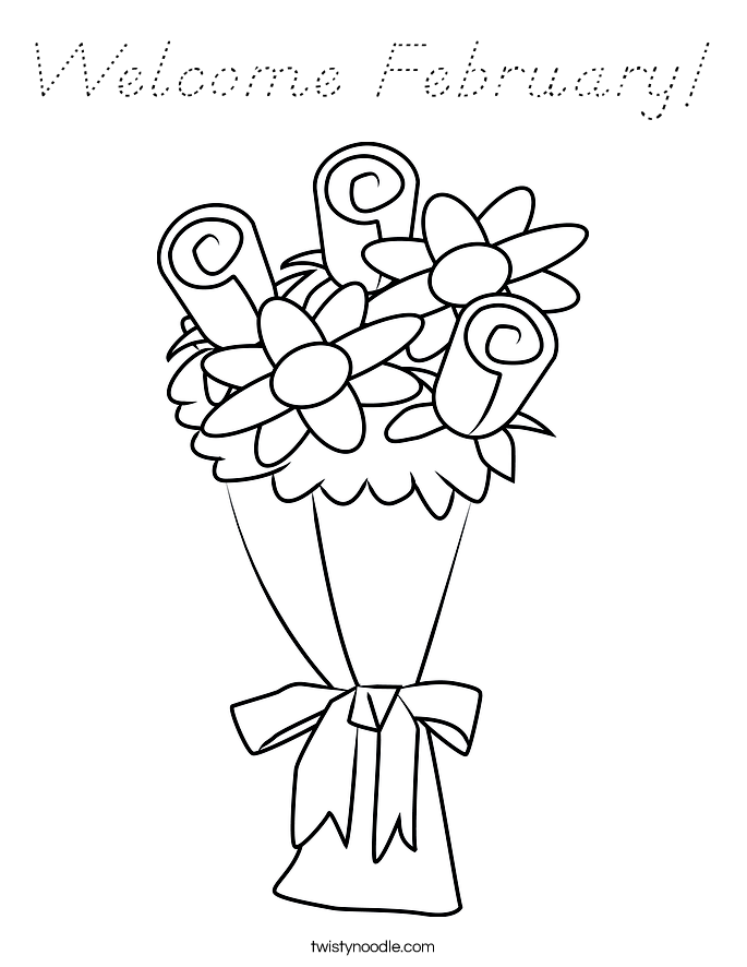 Welcome February! Coloring Page