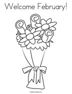 Welcome February Coloring Page