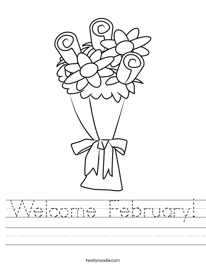 Welcome February! Worksheet
