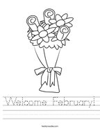 Welcome February Handwriting Sheet