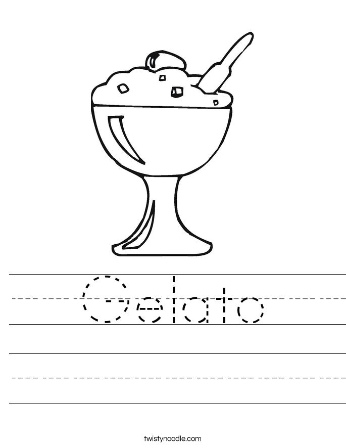 Gelato Worksheet