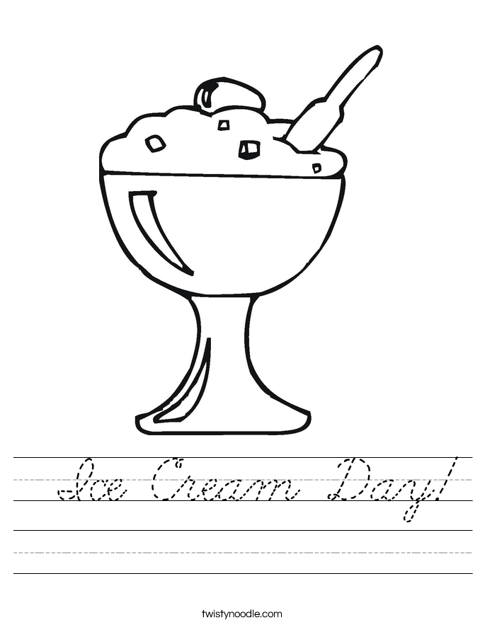 Ice Cream Day! Worksheet