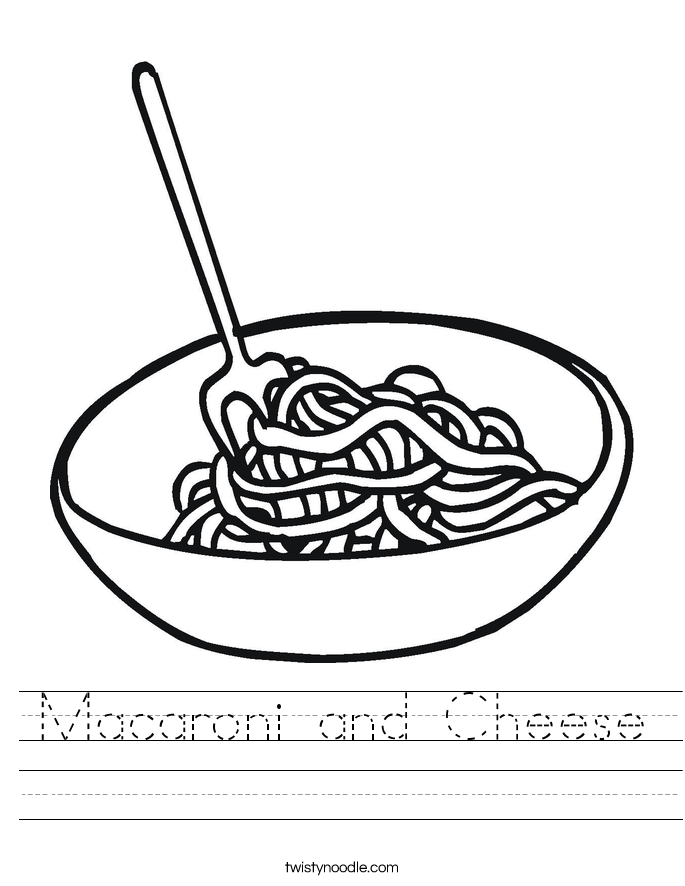 Macaroni and Cheese Worksheet