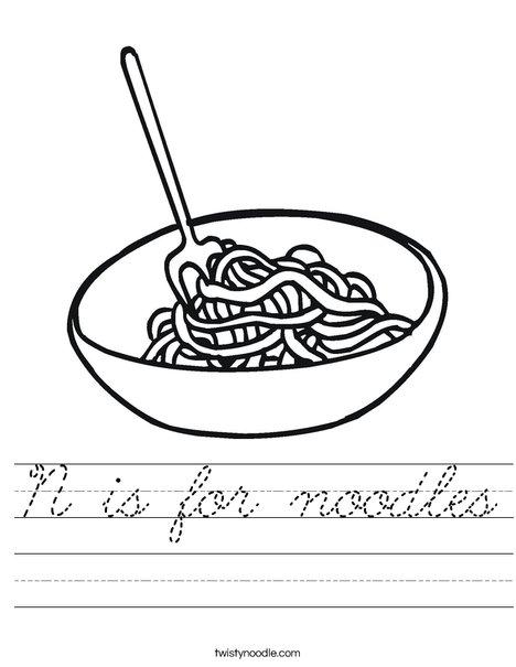 Bowl of Noodles Worksheet