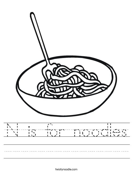 Bowl of Noodles Worksheet