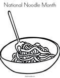National Noodle Month Coloring Page