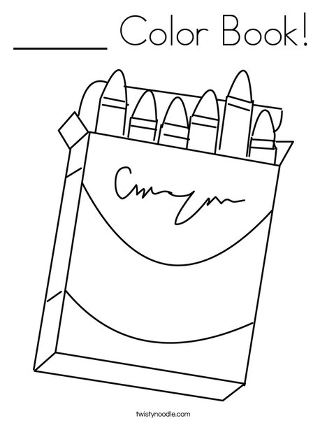 _____ Color Book Coloring Page - Twisty Noodle