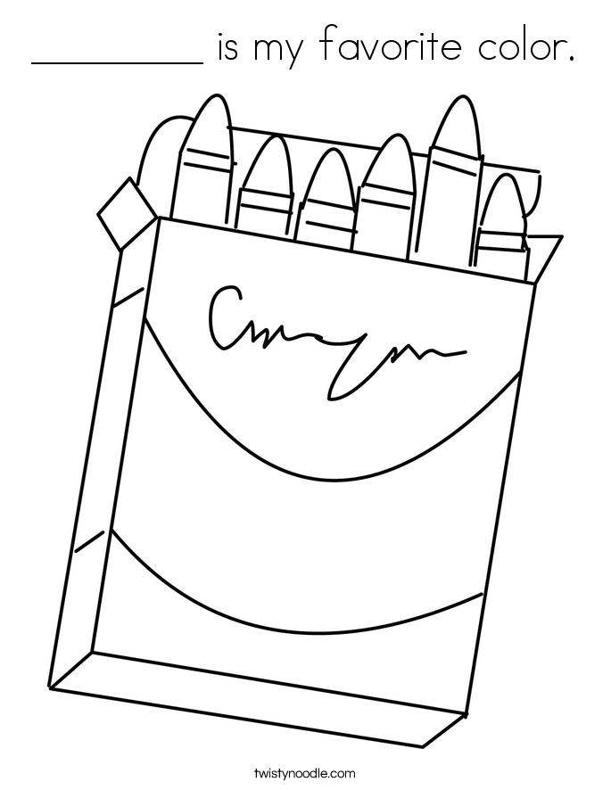 ________ is my favorite color. Coloring Page