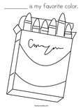 ________ is my favorite color.Coloring Page