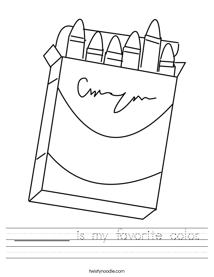 ________ is my favorite color. Worksheet