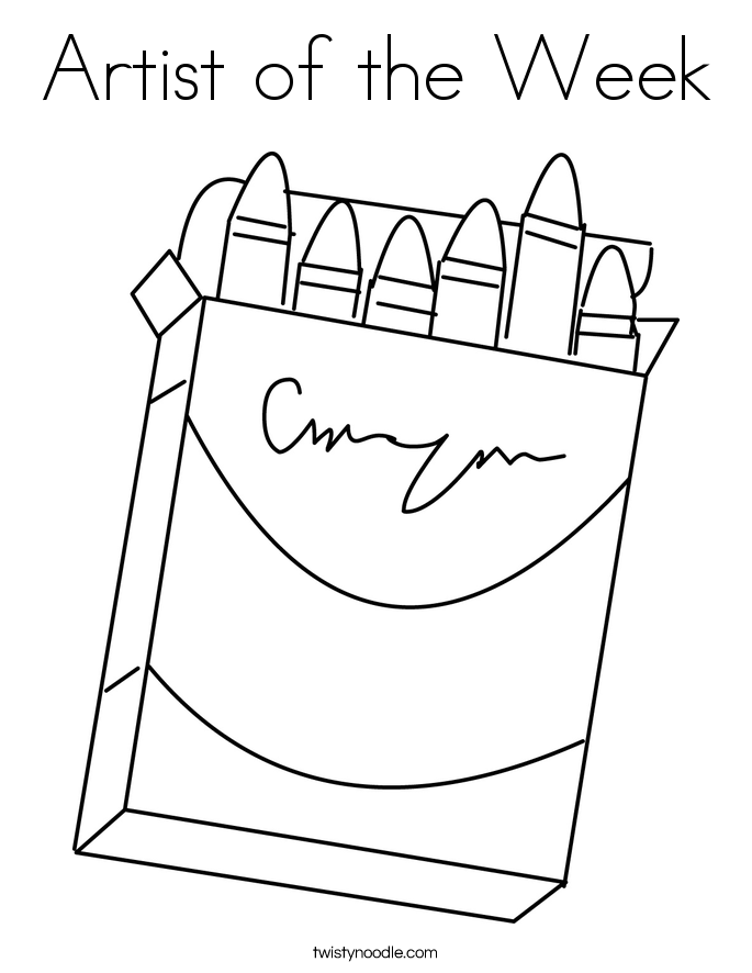 Artist of the Week Coloring Page