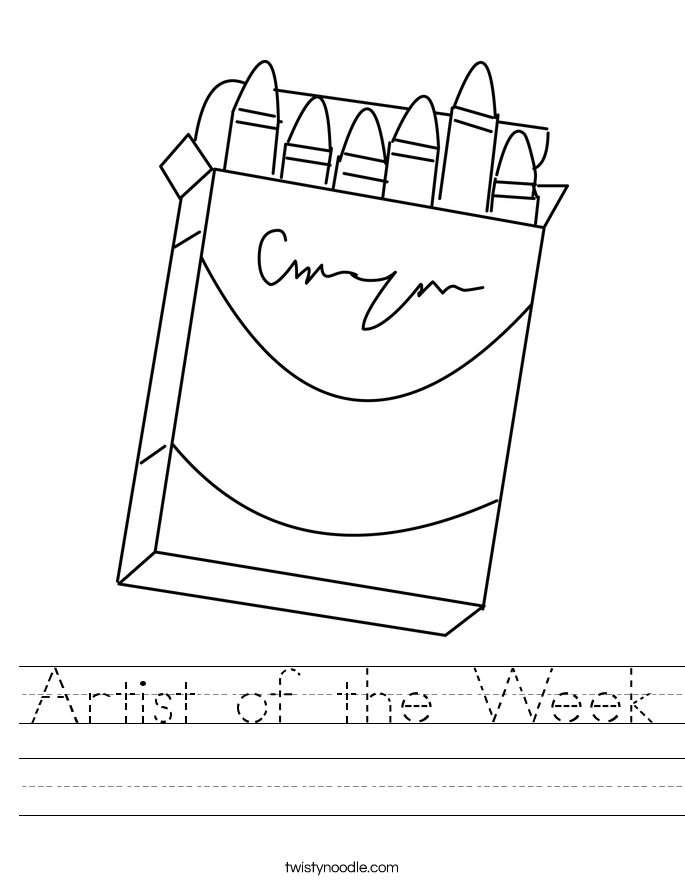 Artist of the Week Worksheet