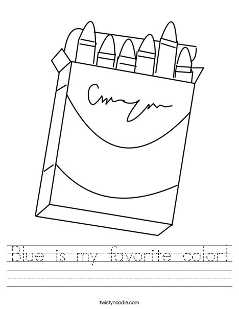 Box of Crayons Worksheet