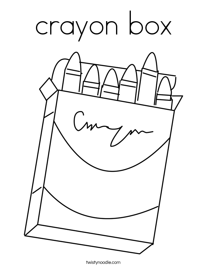 crayon box Coloring Page Twisty Noodle