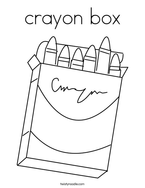 crayon box Coloring Page - Twisty Noodle