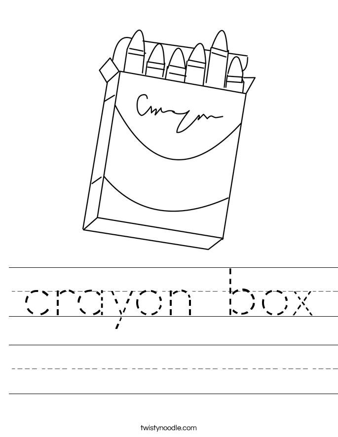 crayon box Worksheet
