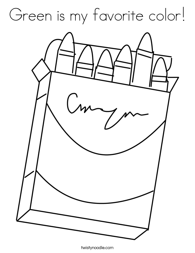 Green is my favorite color! Coloring Page