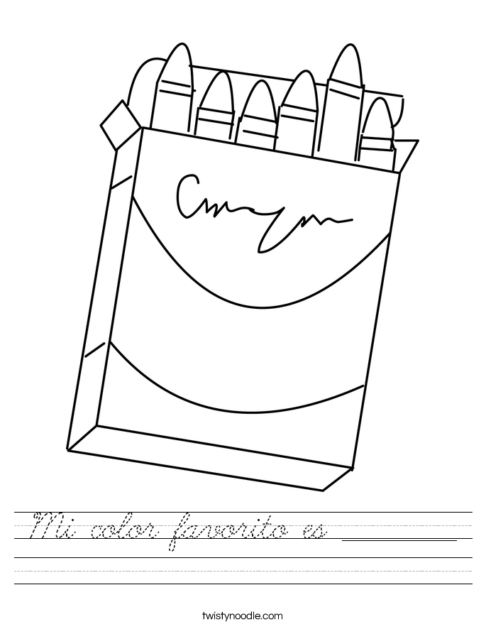 Mi color favorito es _________ Worksheet