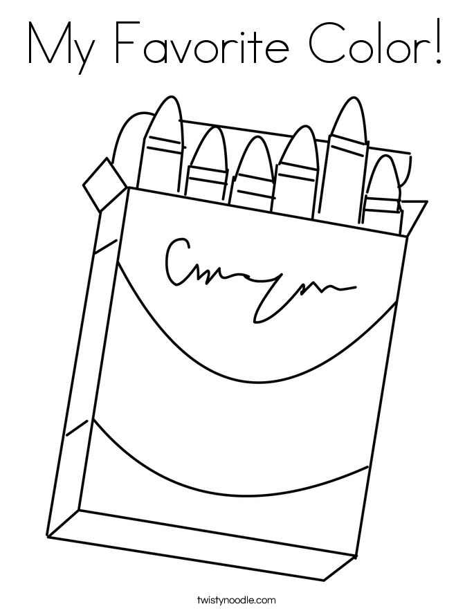 My Favorite Color! Coloring Page