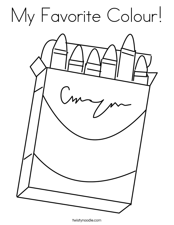 My Favorite Colour! Coloring Page