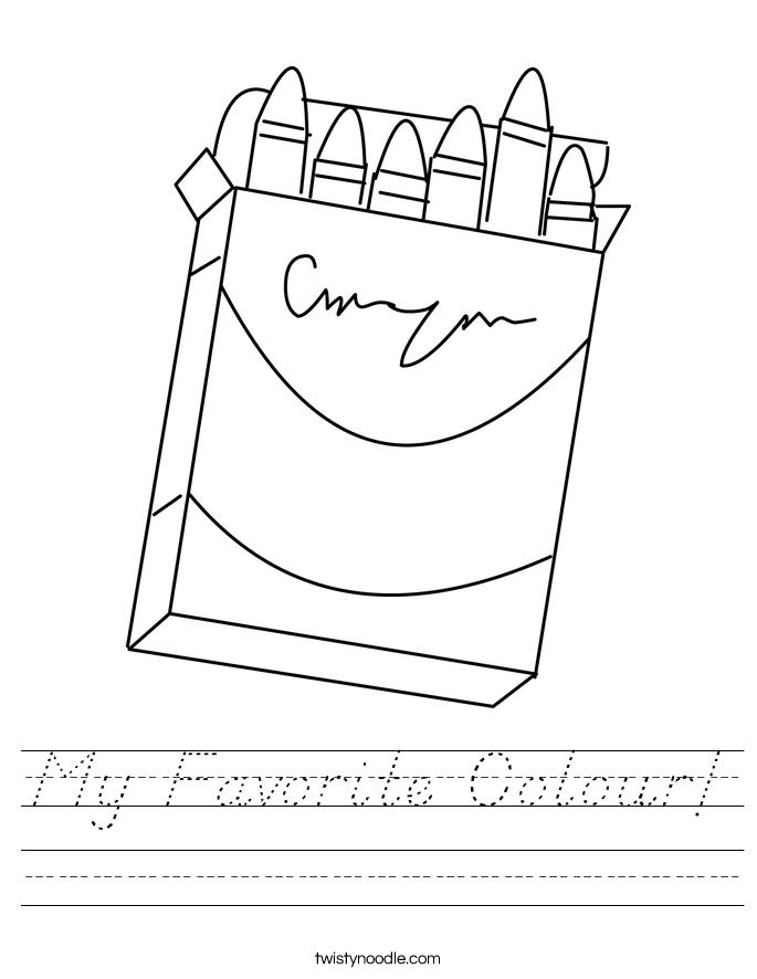 My Favorite Colour! Worksheet