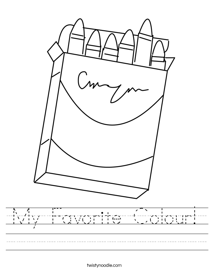 My Favorite Colour! Worksheet