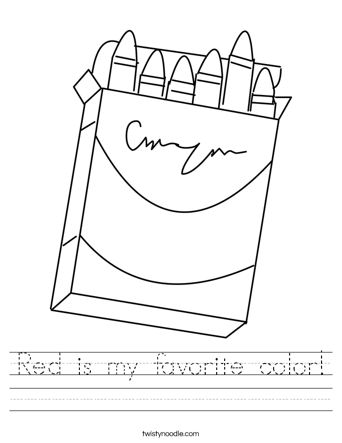 Red is my favorite color! Worksheet
