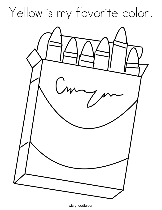 Yellow is my favorite color! Coloring Page