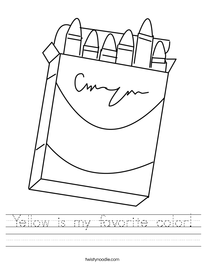 Yellow is my favorite color! Worksheet