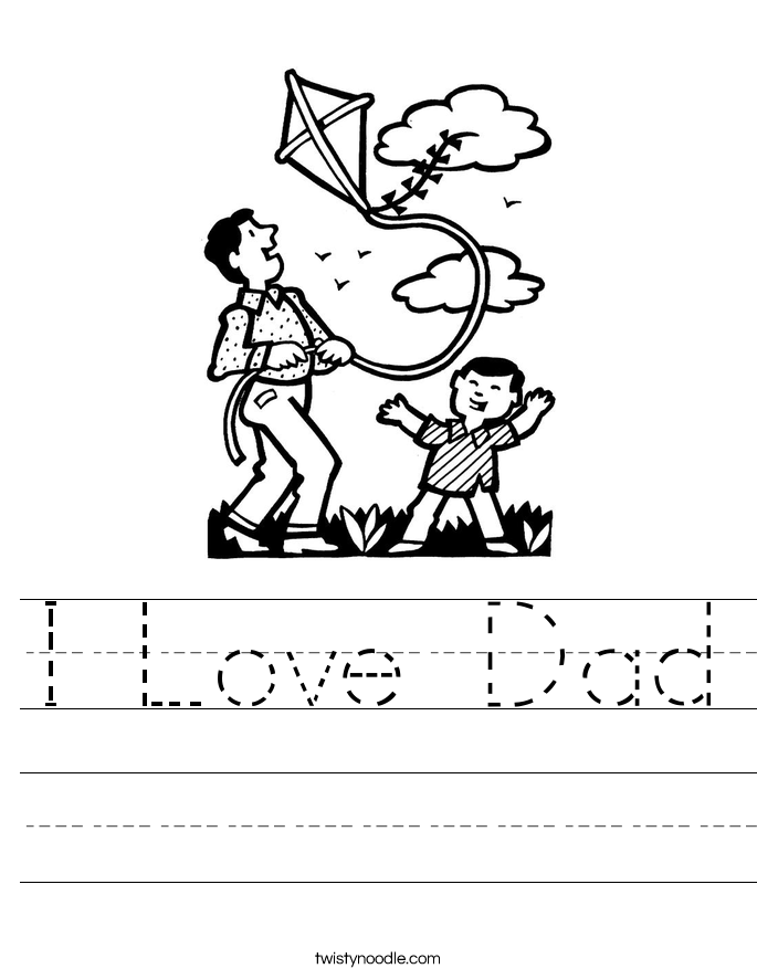 I Love Dad Worksheet