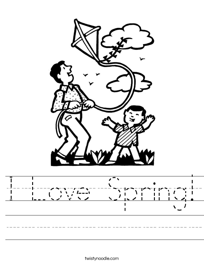 I Love Spring! Worksheet