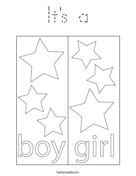 Boy Blocks Coloring Page