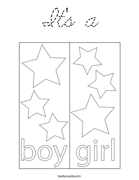 Boy Blocks Coloring Page
