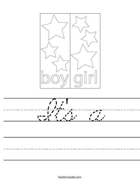 Boy Blocks Worksheet