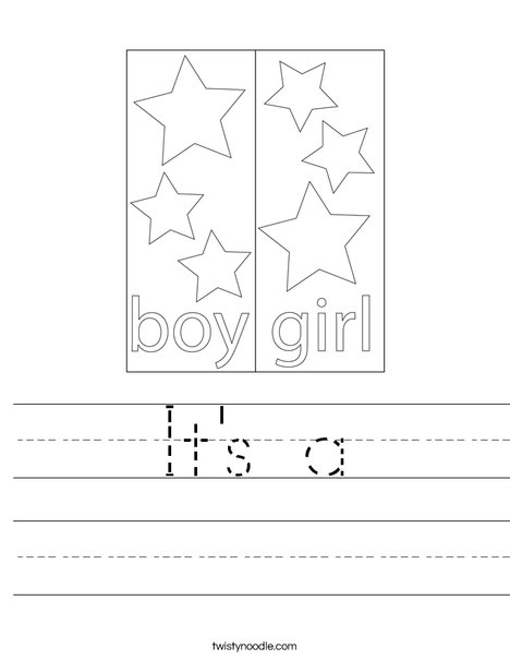 Boy Blocks Worksheet