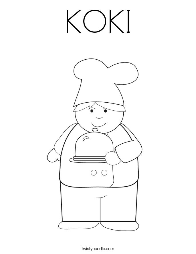 KOKI Coloring Page