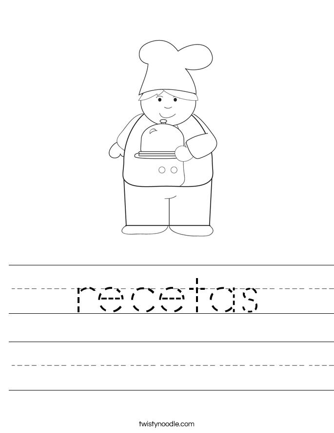 recetas Worksheet