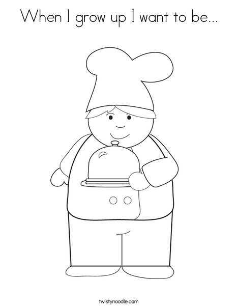 Boy Chef Coloring Page