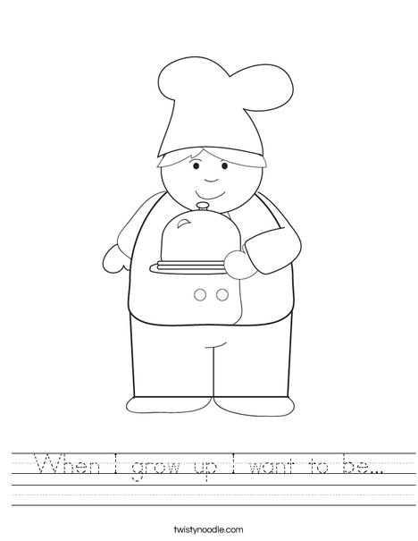 Boy Chef Worksheet