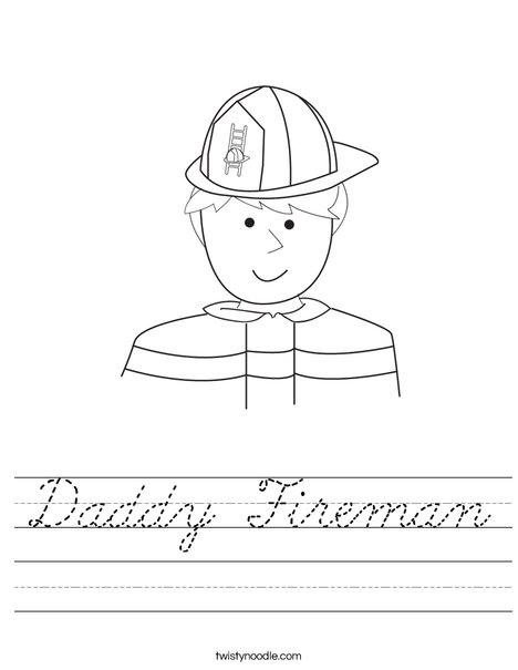 Fireman Worksheet