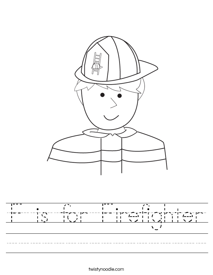 F is for Firefighter Worksheet