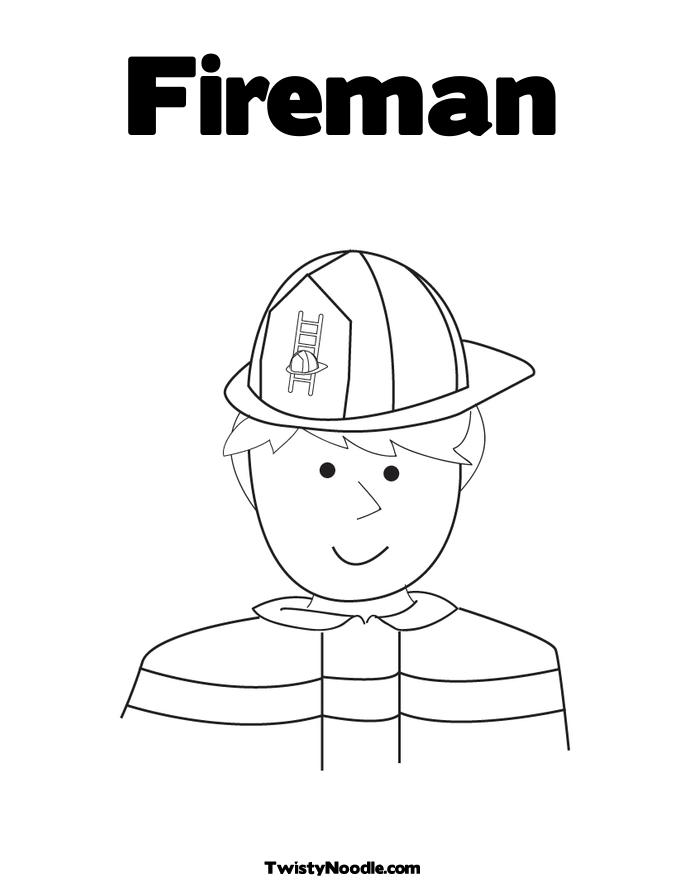 fireman coloring book pages - photo #44