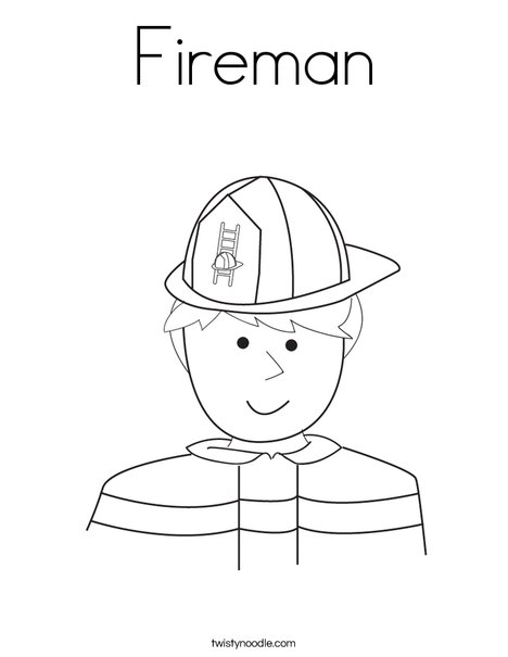 Firefighter Coloring Page   Fire Fighter Coloring Page   Coloring ...   605x468