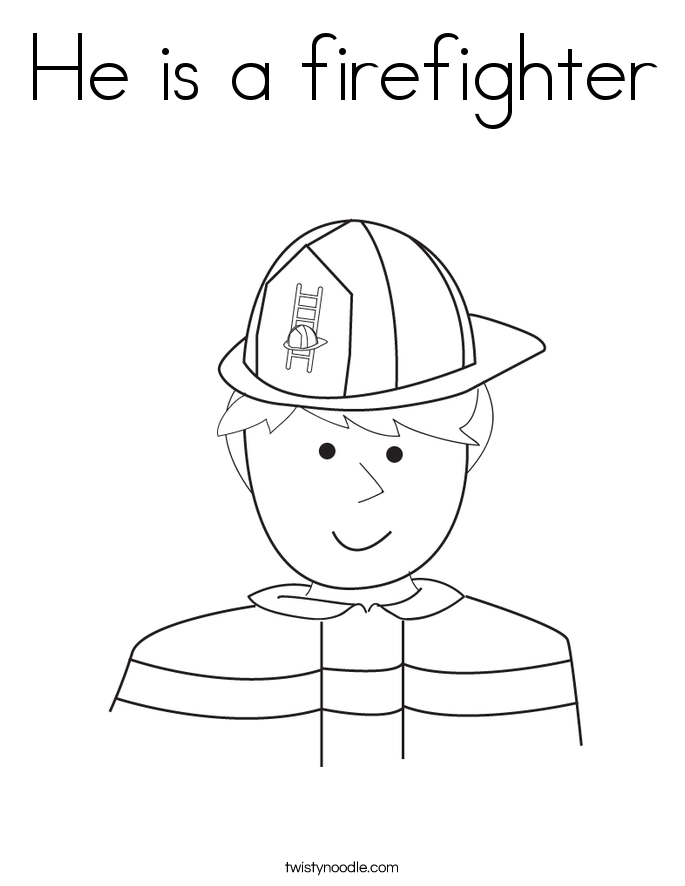 He is a firefighter Coloring Page