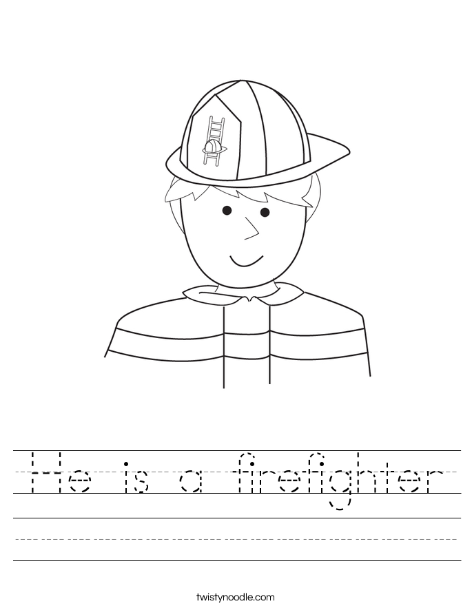 He is a firefighter Worksheet