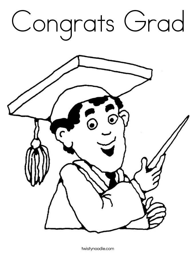 Congrats Grad Coloring Page