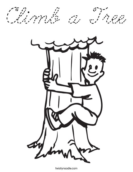 Climbing Coloring Page