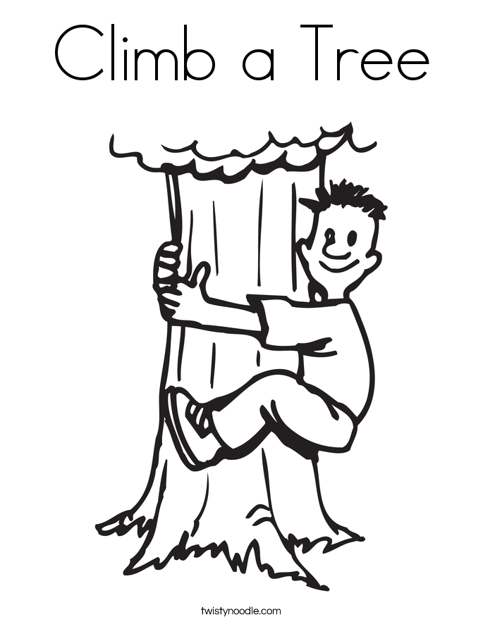 Climb A Tree Coloring Page Twisty Noodle
