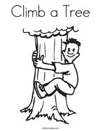 Climb a Tree Coloring Page
